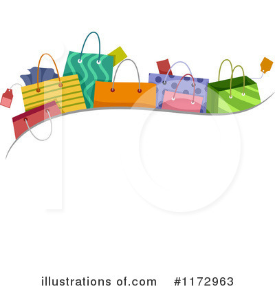 Royalty-Free (RF) Shopping Bags Clipart Illustration by BNP Design Studio - Stock Sample #1172963