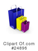 Shopping Bags Clipart #24896 by KJ Pargeter