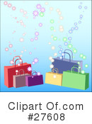 Shopping Bags Clipart #27608 by KJ Pargeter