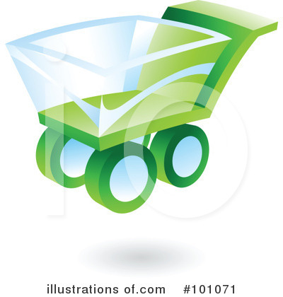 Royalty-Free (RF) Shopping Cart Clipart Illustration by cidepix - Stock Sample #101071