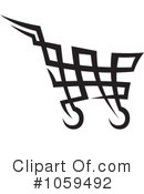 Royalty-Free (RF) shopping cart Clipart Illustration #1059492