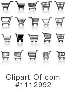 Royalty-Free (RF) Shopping Cart Clipart Illustration #1112992