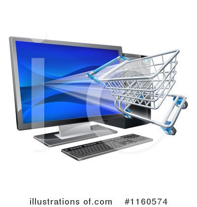 Royalty-Free (RF) Shopping Cart Clipart Illustration by AtStockIllustration - Stock Sample #1160574