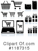 Royalty-Free (RF) Shopping Cart Clipart Illustration #1187315