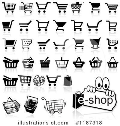 Shopping Cart Clipart #1187318 by dero