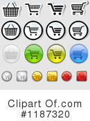 Royalty-Free (RF) Shopping Cart Clipart Illustration #1187320