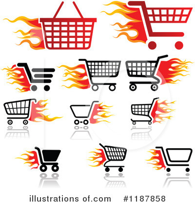Royalty-Free (RF) Shopping Cart Clipart Illustration by dero - Stock Sample #1187858