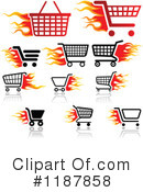 Shopping Cart Clipart #1187858 by dero
