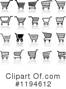 Royalty-Free (RF) Shopping Cart Clipart Illustration #1194612