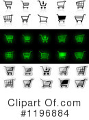 Royalty-Free (RF) Shopping Cart Clipart Illustration #1196884