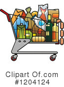 Shopping Cart Clipart #1204124 by Vector Tradition SM