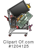 Shopping Cart Clipart #1204125 by Vector Tradition SM