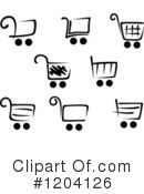 Shopping Cart Clipart #1204126 by Vector Tradition SM