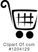 Shopping Cart Clipart #1204129 by Vector Tradition SM
