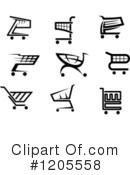 Shopping Cart Clipart #1205558 by Vector Tradition SM