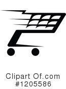 Shopping Cart Clipart #1205586 by Vector Tradition SM