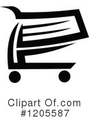 Shopping Cart Clipart #1205587 by Vector Tradition SM