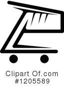 Shopping Cart Clipart #1205589 by Vector Tradition SM