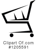 Shopping Cart Clipart #1205591 by Vector Tradition SM