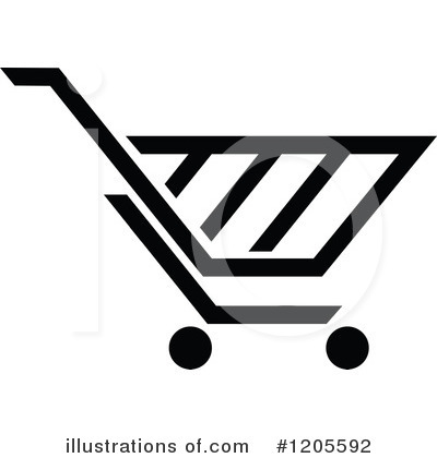 Royalty-Free (RF) Shopping Cart Clipart Illustration by Vector Tradition SM - Stock Sample #1205592