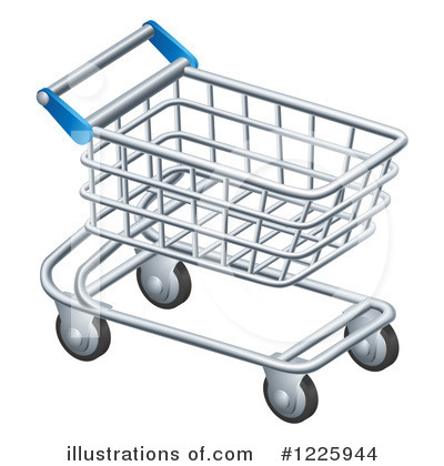 Royalty-Free (RF) Shopping Cart Clipart Illustration by AtStockIllustration - Stock Sample #1225944