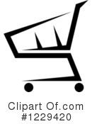 Shopping Cart Clipart #1229420 by Vector Tradition SM