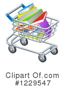 Shopping Cart Clipart #1229547 by AtStockIllustration