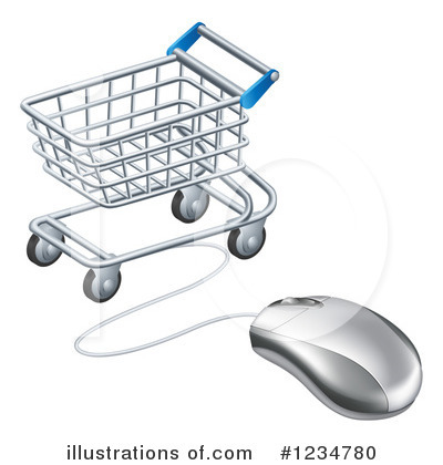 Royalty-Free (RF) Shopping Cart Clipart Illustration by AtStockIllustration - Stock Sample #1234780