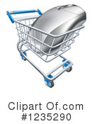 Shopping Cart Clipart #1235290 by AtStockIllustration