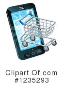 Shopping Cart Clipart #1235293 by AtStockIllustration