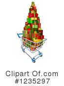 Shopping Cart Clipart #1235297 by AtStockIllustration