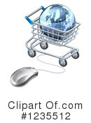 Shopping Cart Clipart #1235512 by AtStockIllustration