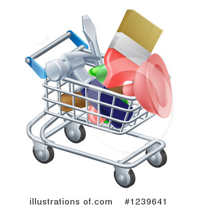 Shopping Cart Clipart #1239641 by AtStockIllustration