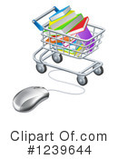 Shopping Cart Clipart #1239644 by AtStockIllustration