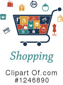 Shopping Cart Clipart #1246890 by Vector Tradition SM