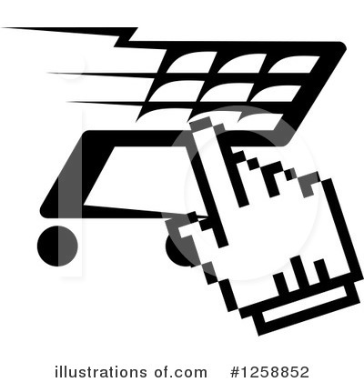 Royalty-Free (RF) Shopping Cart Clipart Illustration by Vector Tradition SM - Stock Sample #1258852