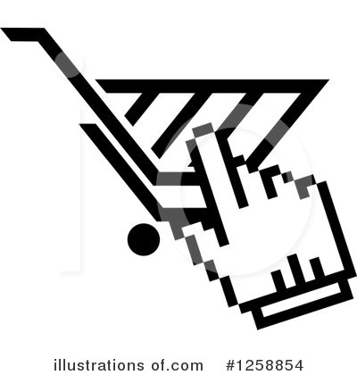 Shopping Cart Clipart #1258854 by Vector Tradition SM