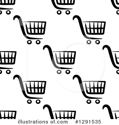 Shopping Cart Clipart #1291535 by Vector Tradition SM