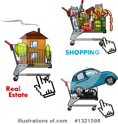 Shopping Cart Clipart #1321598 by Vector Tradition SM