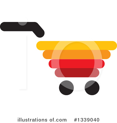 Shopping Cart Clipart #1339040 by ColorMagic