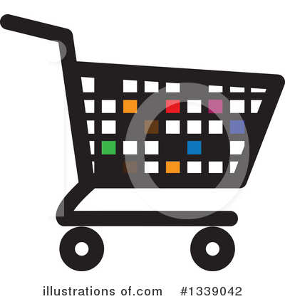 Shopping Cart Clipart #1339042 by ColorMagic