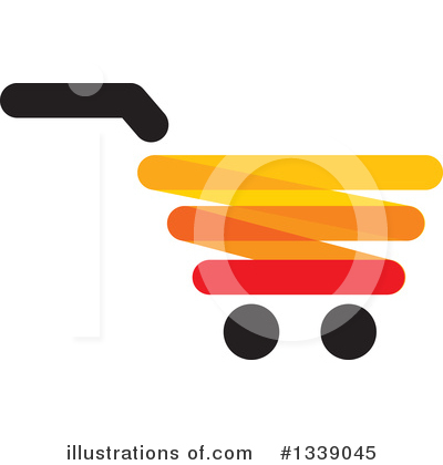 Shopping Cart Clipart #1339045 by ColorMagic