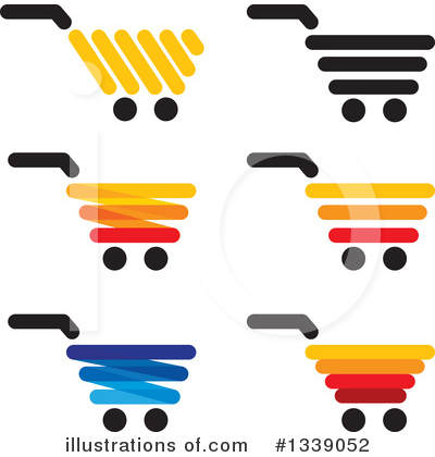 Royalty-Free (RF) Shopping Cart Clipart Illustration by ColorMagic - Stock Sample #1339052