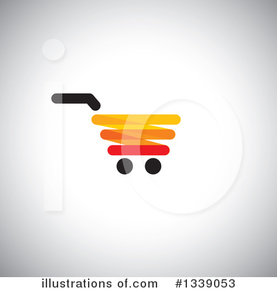 Shopping Cart Clipart #1339053 by ColorMagic