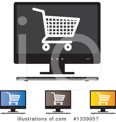 Shopping Cart Clipart #1339057 by ColorMagic