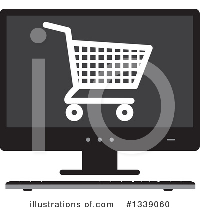 Shopping Cart Clipart #1339060 by ColorMagic