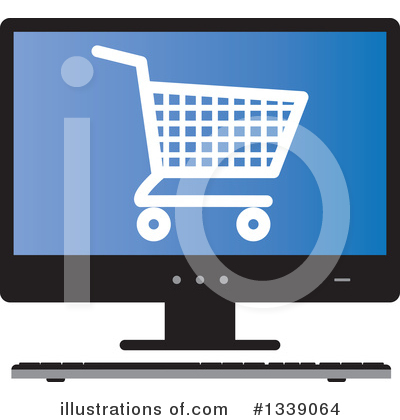 Shopping Cart Clipart #1339064 by ColorMagic