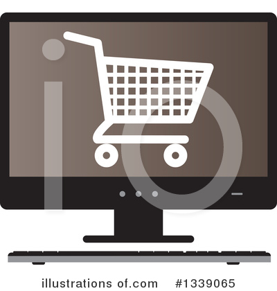 Shopping Cart Clipart #1339065 by ColorMagic