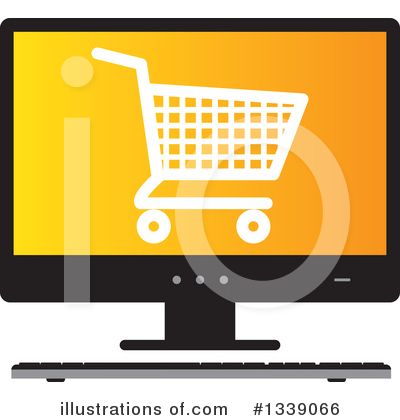 Shopping Cart Clipart #1339066 by ColorMagic