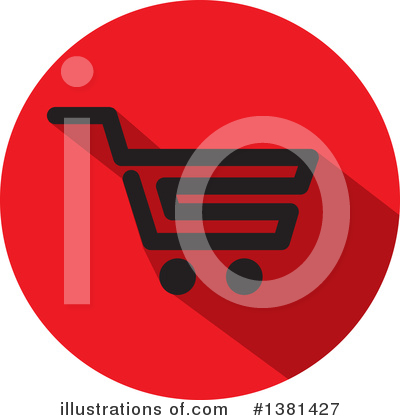 Shopping Cart Clipart #1381427 by ColorMagic